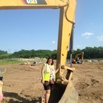 The mom in the excavator