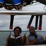 The tree house resort had a parasailing crew on sight!!! Had a blast!!
