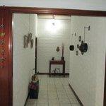 El pasillo hacia las habitaciones