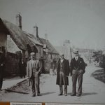 4 tradesmen on Sheep Street at the turn of the 20th century. This photograph hangs in the entran