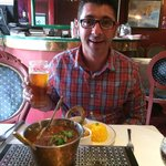 Butter Chicken and a cold Kingfisher in London.