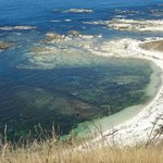 White frills of coastline