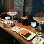 Breakfast, tropical & Thai  fruits