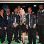 The fabulous footprints band and me (I'm the blonde) their beautiful singer Charlie took the pic