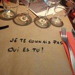A nice tablecloth!