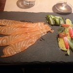 The awesome salmon starter. Looks as good as it tastes!