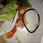 I found hair and a HAIR TIE in my chef salad and manager just laughed at me.