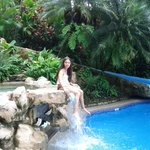My daughter at the Hotel´s Swimming Pool area.