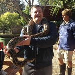 Big snake! Fortunately very helpful & knowledgeable guide.