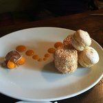 Iced Mango Parfait and Coconut Macroon