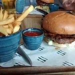 Burger at The Crown