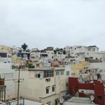 looking up towards the Kasbah from the roof terrace