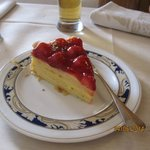The excellent strawberry cake.