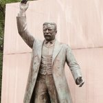 statue of Teddy Roosevelt on the island