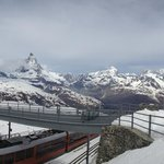 Matterhorn in Background of the Gornergrat Train Station