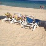Broken beach chairs