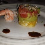 Shrimp and Salmon appetizer at Le Gourmet