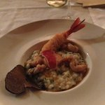 risotto truffes, supions et gambas