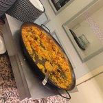 Paella at Dinner