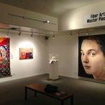 """Fiber Art Master Pieces"" past exhibit, Rotating Gallery."