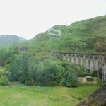 Crossing the Glenfinnan Viaduct (from inside the train)
