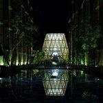 Vue de nuit de sur le lobby (réception)