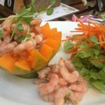 Paw Paw & Prawn Salad