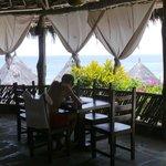 Visuale dal ristorante del Flamingo beach