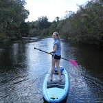 Try a stand-up paddle board...it is a blast!