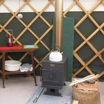 The wood-burner: to be used on our next visit