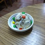 Kids cookies n cream with M&M's