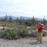 My husband and son at Sabino Canyon