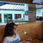 Sami surveys his bacon in the fabulous breezy bar 51