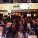 USA fans watching the USA vs Belgium Game at the Harp and Celt