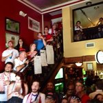 American Outlaw Soccer fans supporting the USA at the Harp and Celt