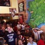 USA fans watching the USA vs Belgium World Cup Match