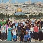 Our group in Jerusalem.  Micki and Moody in the front row.