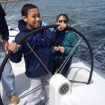 10 year old at the helm