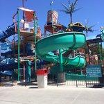 Younger children's water play area, with small water slides!