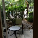 Looking out to our patio that connects to the Tropical Pool.