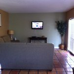 Living room with DVD player