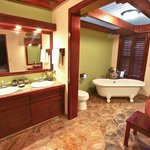 Suite bathroom tub