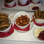 Fry Sampler: Onion Rings, Sweet Potato Tots, French Fries