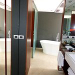 Vanity and wardrobe area
