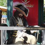 Pirate at family restaurant