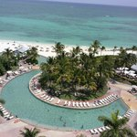 Hammerheads pool bar view from room on 10th floor