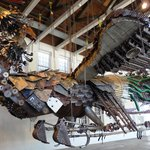 Sculpture made from recycled construction materials