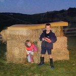 Nerf gun wars in the hay