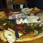 Our divine mezze platter for two.