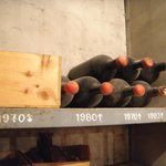 One of the cellars had 40-50 year old wine bottles
